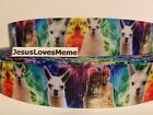 Grosgrain Ribbon Alpacas Llamas Livestock Wool Farm Animals Fun Friends 78