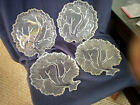 Hazel Atlas Orchard Tree of Life Crystal Textured Snack Plates