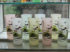 Set 4 SOUTHERN BELLE Vintage Tumblers Frosted Glasses 16 oz Anchor Hocking *EXC*