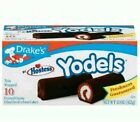 2 - Drake's Yodels Snack Cakes Chocolate Cover Creme Fill Individual Wrapped
