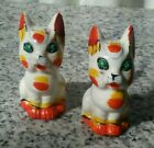 Vintage Cat Shaped Salt And Pepper Shakers Made In Japan