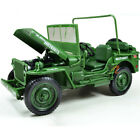 118 Jeep Willys US ARMY 1 4 Truck Camoflage Diecast Model Military Vehicles KDW