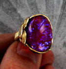 Dragons Breath Mexican Opal Glass Ring in 14kt Rolled Gold  Wire Wrapped