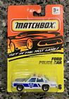NEW MATCHBOX 1994 DIE CAST GET IN THE FAST LANE COLLECTOR 16 FORD POLICE CAR