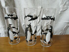 3 ~ Vintage Mid Century FEDERAL GLASS signed Penquin Pete 7