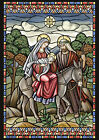 Toland Home Garden Stained Glass Nativity 28 x 40 inch House Flag