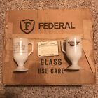 24 Vintage New Unused Box Federal Milk Glass Tennessee Coffee Cups Mugs Whisky