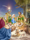 Carolines Treasures Christmas Nativity with Wise Men 2 Sided Garden Flag