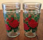 2 Anchor Hocking Watermelon 16 oz. Jelly Glass Tumblers