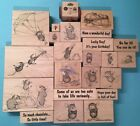 Retired House Mouse Rubber Stamp Lot Stampa Rosa  Stampabilities Mice Seniments