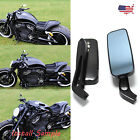 Rectangle Black Motorcycle Rear View Mirrors Wing For Suzuki Boulevard M50 M109R