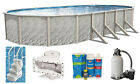 Above Ground Oval Meadows Swimming Pool w Liner Sand Filter  Step Kit
