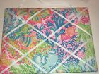 Ribbon Memo Board made with LILLY PULITZER fabric in Multi LOVERS CORAL