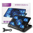 Oversized LED Fans for Max Cooling Laptop Cooler Pad Fits 17Notebook Alienware