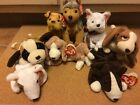 Beanie Baby Dog Lot Retired Original Bruno Butch Tracker Sniffer Kirby Sarge