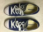 BLUE CONVERSE ALL STARS YOUTH SIZE 3 CANVAS ATHLETIC SNEAKERS SHOES WOMENS 6