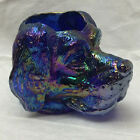 Vintage Glass Dog Head Carnival Glass toothpick Holder Joe St Clair St