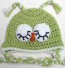 NEW INFANT BABY CROCHET OWL EAR FLAP HAT cap beanie knit toddler photo prop USA