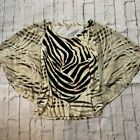 Cache Light Browns Animal Print batwing sleeve blouse size Womens Large