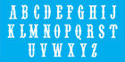 Upper case western Alphabet stencil MAD 014 3 inches tall reuseable