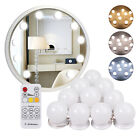 10* Vanity LED Mirror Light Set with Dimmable Bulb Remote Control Makeup Mirror