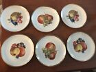 6 C triangle polish salad fruit porcelain plates