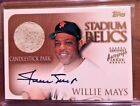 WILLIE MAYS 2000 TOPPS STADIUM RELICS SP AUTOGRAPH AUTO L@@K