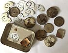 Antique Gents Pocket Watch Spares Hebdomas 8 Day Assorted With Dials