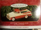 Hallmark Keepsake 1957 Dodge Sweptside D100 All American Trucks Red/white