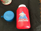 LUNCHBOX LUNCH BOX VINTAGE THERMOS SILVERHAWKS 1986 RED BLUE