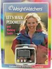 WEIGHT WATCHERS LETS WALK PEDOMETER Stopwatch Steps Miles+Walking Guide Sealed