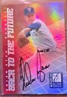 1998 NOLAN RYAN & GREG MADDUX DONRUSS ELITE BACK TO THE FUTURE DUAL AUTO #94 100