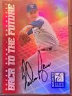 1998 NOLAN RYAN & GREG MADDUX DONRUSS ELITE BACK TO THE FUTURE DUAL AUTO #93 100