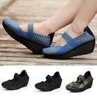 Summer Womens Sport Platform Wedges Swing Shoes Shape Ups Pull On Sneaker Size