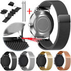 20mm 22mm Milanese Loop Magnetic Stainless Steel Wrist Watch Band Strap USA