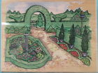 The Manor Garden Scene X Large STAMPENDOUS Rubber Stamp