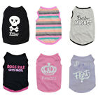 Small Pet Dog Cat Summer Shirts Vest Clothes Cute Puppy T Shirt Coat Apparel US