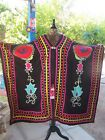 NWT 560 SOLD OUT Southwestern Native Embroidered Ceremonial Robe Cape OS Roja