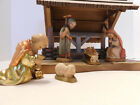 ANRI Nativity Set Stable with 6 3 Vintg Ferrandiz Hand Carved Maple Figures