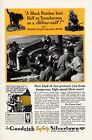 1935 Vintage print ad car part Goodrich Tire Black Panther or Texaco Fire Chief
