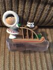 HALLMARK FROSTY FRIENDS 1989 Keepsake Christmas Ornament Eskimo Sled Collectible