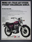 1972 BSA Gold Star 500 SS Motorcycle vintage print Ad