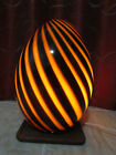 Large Murano Vetri Glass Egg Lamp Brown 1970s Made in Italy