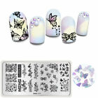 Harunouta Nail Art Stamping Plates Butterfly Flower Nail Stamp Design Tool L075