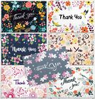 SALE 42 Thank You Cards in Bulk Floral Greeting Cards Set With Envelopes