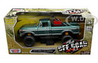 1979 FORD F 150 CUSTOM PICKUP TRUCK OFF ROAD GREEN 1 24 DIECAST MOTORMAX 79138