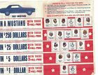 1966 AMOCO AMERICAN OIL FOOTBALL  ALL PRO STAMP PAMPLET BOOK  SAYERS LILLY RCS 1