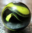 """Christensen Agate CAC Opaque Swirl  .60-.61"""" Wet Mint Marble Black Yellow #289"""