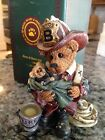 Fireman Elliot the Hero Boyds Bears & Friends The Bearstone Collection #2280