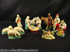 Nativity Creche Christmas Set 13 Pieces Hard Rubber Mary Joseph Baby Jesus Kings
